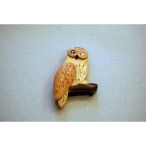 Magnet aus Holz mit Eule