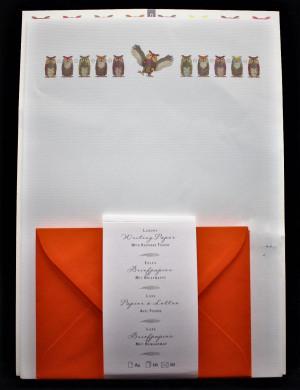 Briefpapier Eulen mit Mappe
